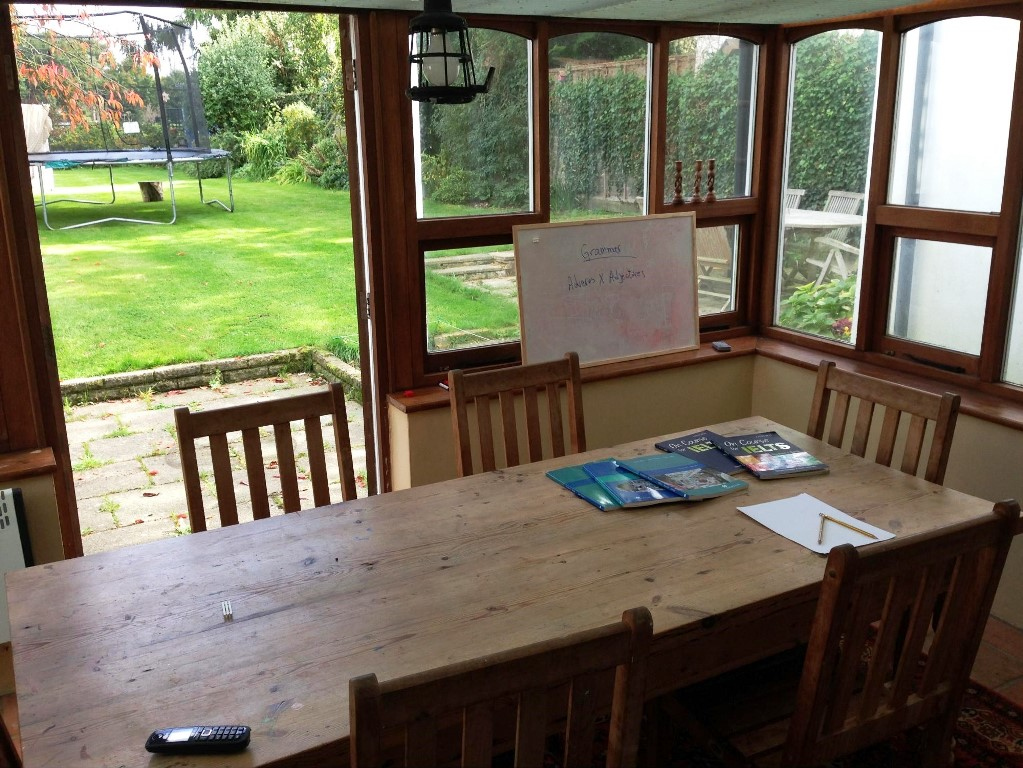 living and learning english at your teachers home england
